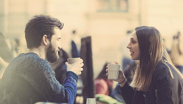 couple drinking coffee breaking habits
