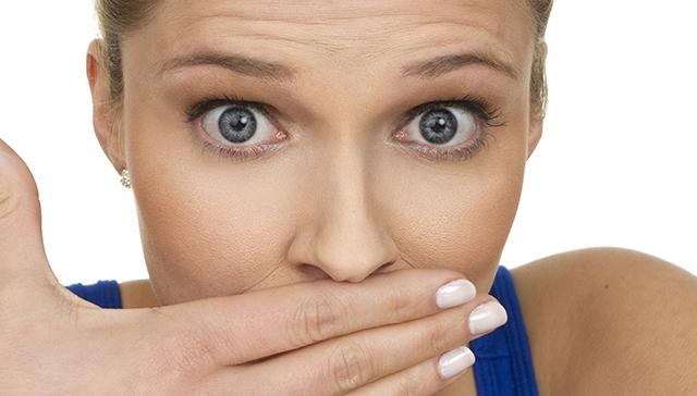Woman Hiding Bad Breath Promo